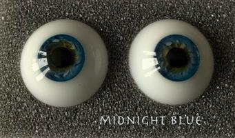 """""""Eyes Alive"""" Reborn Ögon - Midnight Blue  20 mm"""