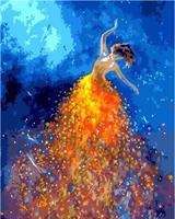 Mal eller nummer, Ballerina fargerik 40*50cm