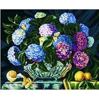 Diamond Painting, Hortensia 40*50cm, kvadrat FPK