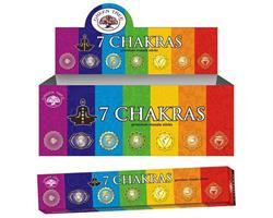 Green Tree - Seven Chakras (12 pack)