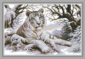 Broderi korssting, Tiger 65*45cm (DA335)