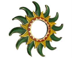 Spegel - Grön sol 40cm (6 pack)
