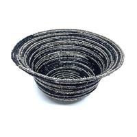 Skål - Glaspärlor svart/silver (6 pack)