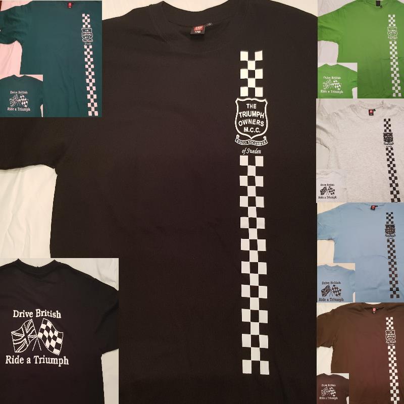 T-shirt svart  - checkered flag