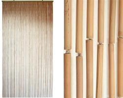 Draperi - Bambu natur (6 pack)