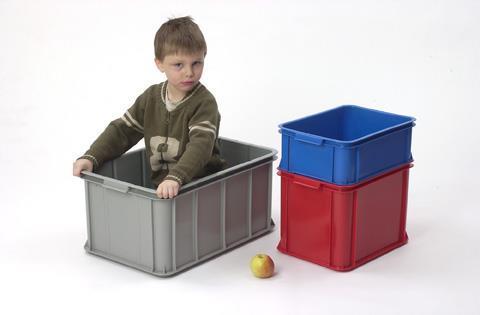 Transport og oppbevaringskasse 55 liter hvit