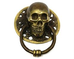 Brons - Skalle dörrknackare 11,5cm (2 pack)