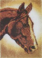 Ryeteppe, Hest 52*38cm