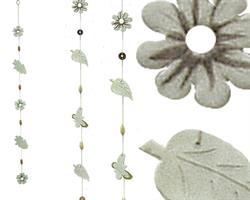 Mobil - Blad & blommor keramik 93cm (12 pack)