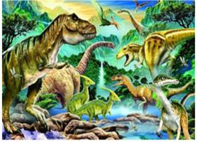 Diamond Painting, Dinosaurer 39*49,5cm FPR