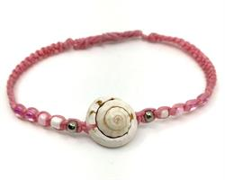 Knytarmband - Snäcka rosa (6 pack)