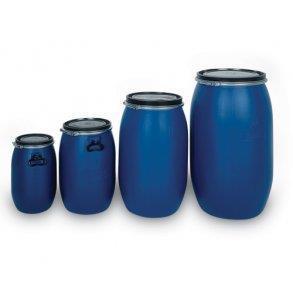 Plasttønne 60 liter rund, blå