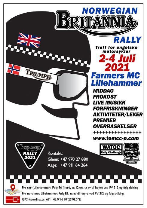Norwegian Britannia Rally 2021