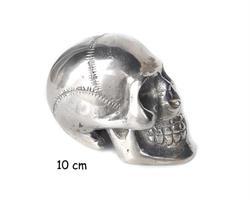 Brons - Silver skalle 10cm (4 pack)