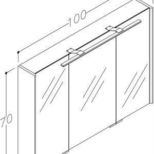 Spegelskåp Natura Garda 100 cm