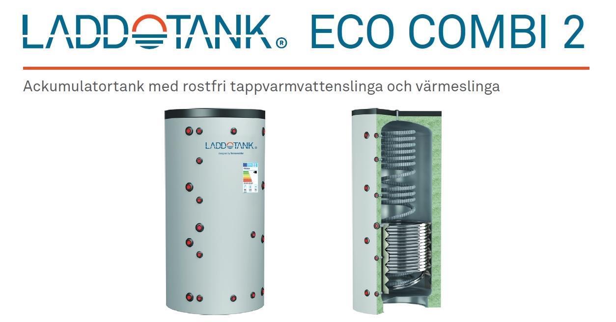 Laddotank 500L Cordivari Eco Combi 2, sol+VV