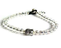 Armband - Buddha vit kristall (6 pack)