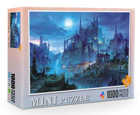 Mini Puzzle, Spøkelsesby 38*26cm (66-014) 1000 brikker