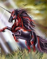 Diamond Painting, Unicorn Hest kvadrat 40*50cm (Y413) FPK