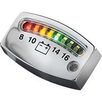 LED Battery Gauge - Chrome - 2