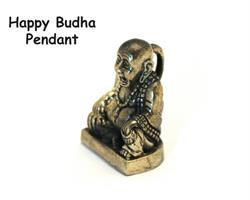 Brons - Hänge till halsband Happy Buddha (2 pack)