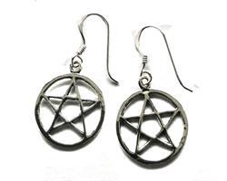 925 Silver - Örhängen Pentagram (3 pack)