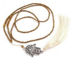 Halsband - Fatimas hand stor guld (4 pack)
