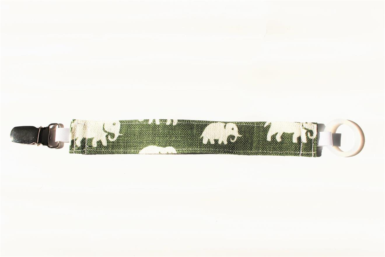 Napphållare Mossgrön med elefanter