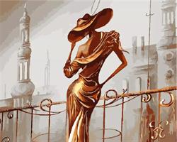 Mal eller nummer, Elegant dame 40*50cm