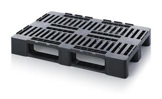 Plastpall 1200x800mm medium svart MP1208AU
