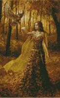 Diamond Painting, Eventyrprinsesse orange 50*80cm FPR