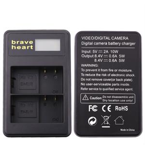 Dobbeltlader for Nikon EN-EL15 batterier m/Disp