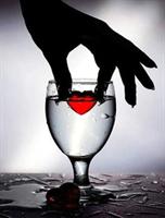 Diamond Painting, Hånd m/rødt hjerte 40*50cm FPK
