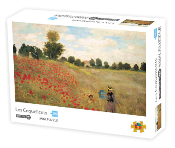 Mini Puzzle, Les Coquelicots 42*29,7cm 1000 brikker