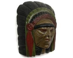 Mask - Indian i trä (6 pack)