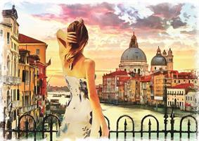 Puslespill Views on Venice, 1500 brikker