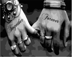 Mal eller nummer, Together Forever 50*40cm