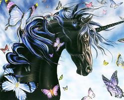 Diamond Painting, Unicorn Hest kvadrat 40*50cm (H516) FPK