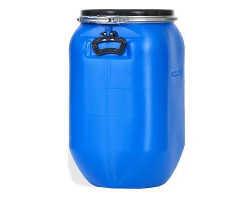 Plasttønne 60 ltr firkant blå
