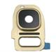 S7/S7 Edge Kamera & Blits glass + ramme  - Bronse