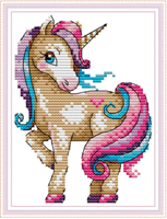 Broderi korssting, Unicorn 18*22cm (DA406)