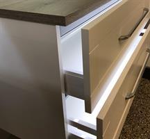 Belysning insida låda LED