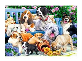 Puslespill Hunder i hagen 1000 brikker