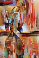 Diamond Painting, Abstrakt dame 35*45cm (JX81002) FPK