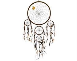 Drömfångare - 5 ringar brun (6 pack)