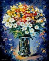 Diamond Painting, Blomster i vase 40*50cm, kvadrat FPK