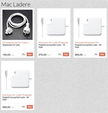 Mac Ladere er ankommet Webshoppen våres