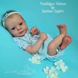 """Felicia reborn kit av Gudrun Legler 19"""""""