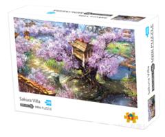 Mini Puzzle, Rosa blosterhage 38*26cm (66-001) 1000 brikker