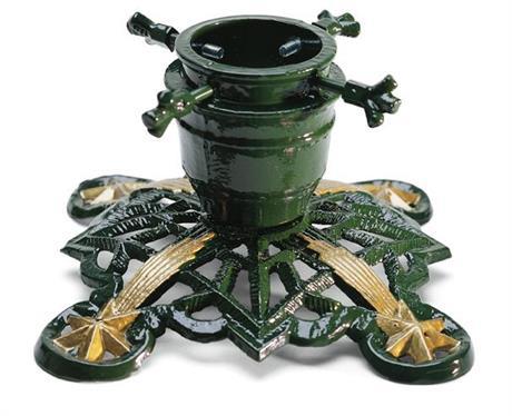 Julgransfot, gjutaluminium, grön
